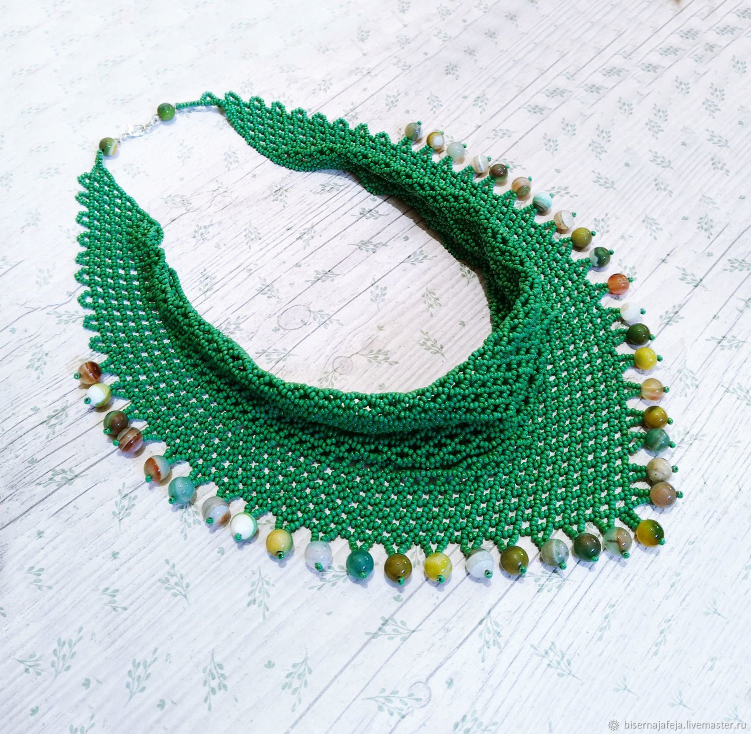 9a8bee7b337c4 Necklaces & Beads handmade. Livemaster - handmade. Buy Scarf-beaded necklace .
