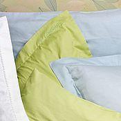 """Наволочки ручной работы. Ярмарка Мастеров - ручная работа Наволочки на подушки сатиновые """"зеленый свет"""". 100% хлопок. Handmade."""