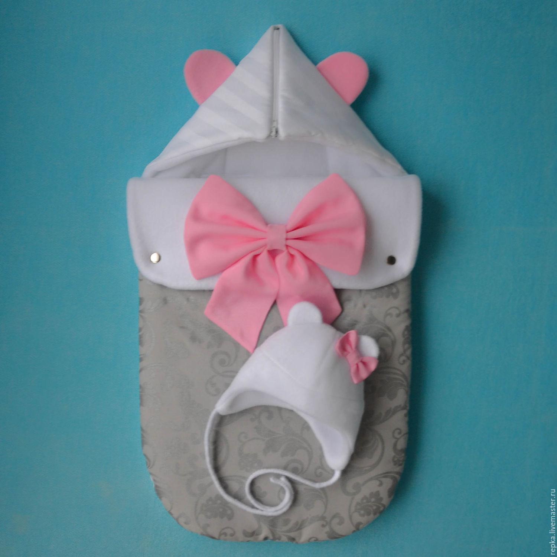 конверт из плюшевой пряжи для новорожденных