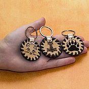 Сумки и аксессуары handmade. Livemaster - original item Keychain made of leather with engraving.. Handmade.