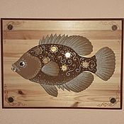 Фен-шуй и эзотерика handmade. Livemaster - original item Painting Feng Shui: Body painting sand Cash fish. Handmade.