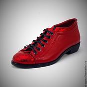 Обувь ручной работы. Ярмарка Мастеров - ручная работа Туфельки красные-прекрасные  101. Handmade.