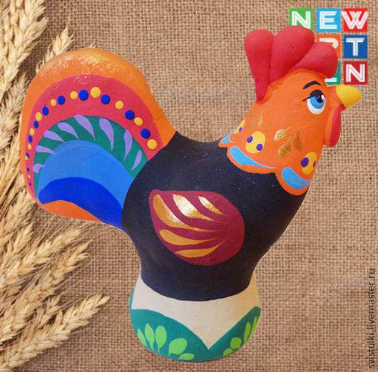 Новый год 2017 ручной работы. Ярмарка Мастеров - ручная работа. Купить Свистулька глиняная Символ Нового года - Петух. Handmade.