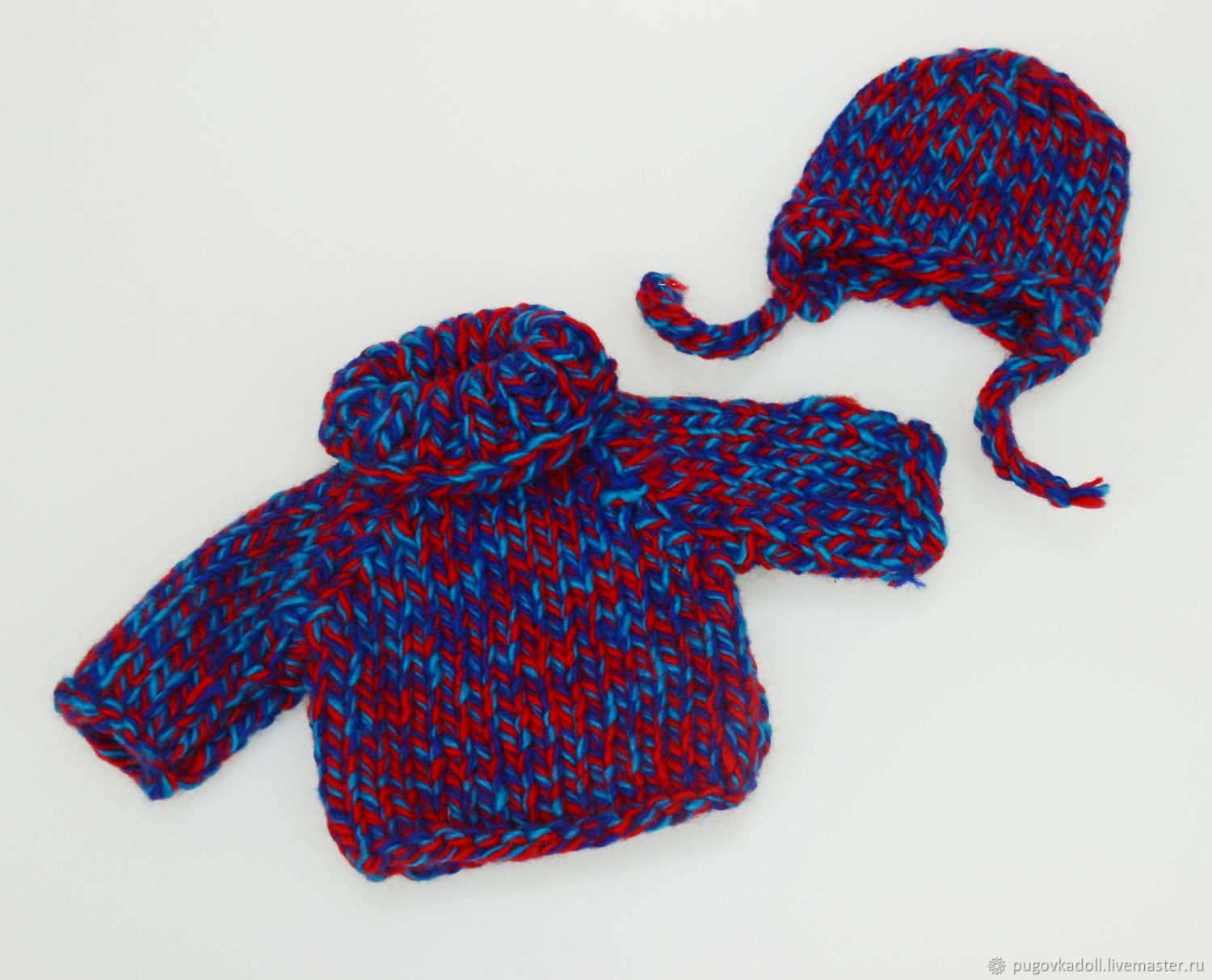 Kit for doll Sweater and Hat, Clothes for dolls, Moscow,  Фото №1