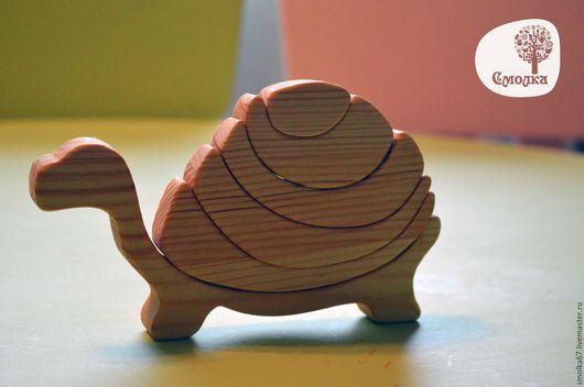 Развивающие игрушки ручной работы. Ярмарка Мастеров - ручная работа. Купить Черепаха-пазл (балансир). Развивающая деревянная игрушка.. Handmade.