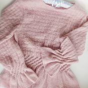 Одежда handmade. Livemaster - original item Powdery sweater with peplum. Handmade.