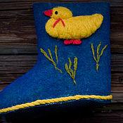 Обувь ручной работы. Ярмарка Мастеров - ручная работа валенки 38 с утками. Handmade.