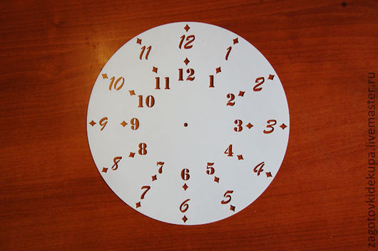 Трафарет для часов на 2 циферблата Материал: прозрачный тонкий пластик (0,2 мм) Размер: 25х25 см