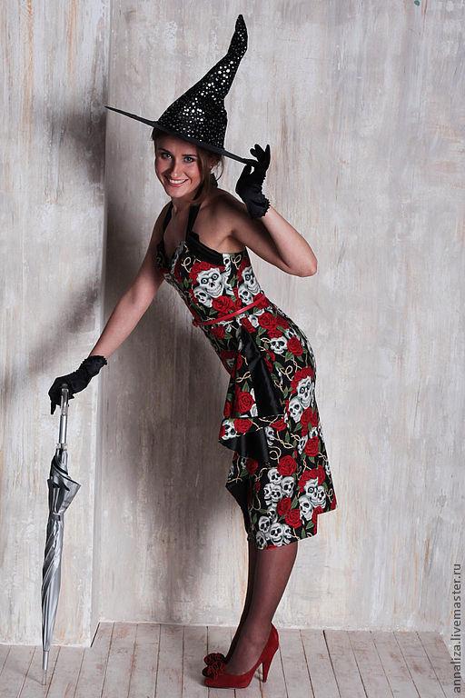 """Платья ручной работы. Ярмарка Мастеров - ручная работа. Купить Ретро платье в стиле 50-х Саронг """"Стильная ведьмочка"""". Handmade."""