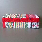 Для дома и интерьера handmade. Livemaster - original item Box for knitter Geometry. Handmade.