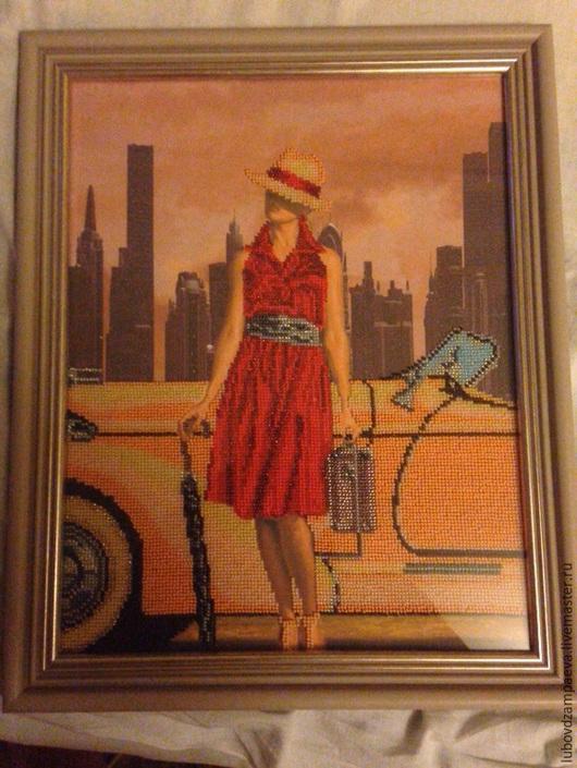 Люди, ручной работы. Ярмарка Мастеров - ручная работа. Купить Огни большого города(Ретро путешествие). Handmade. Холст, ретро стиль