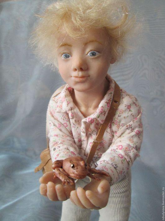 Коллекционные куклы ручной работы. Ярмарка Мастеров - ручная работа. Купить Лягушка. Handmade. Серый
