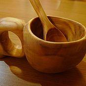 Посуда ручной работы. Ярмарка Мастеров - ручная работа Кукса кружка из цельного куска дерева. Handmade.