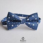 Аксессуары handmade. Livemaster - original item Starfall bow tie / blue bow tie for New year. Handmade.