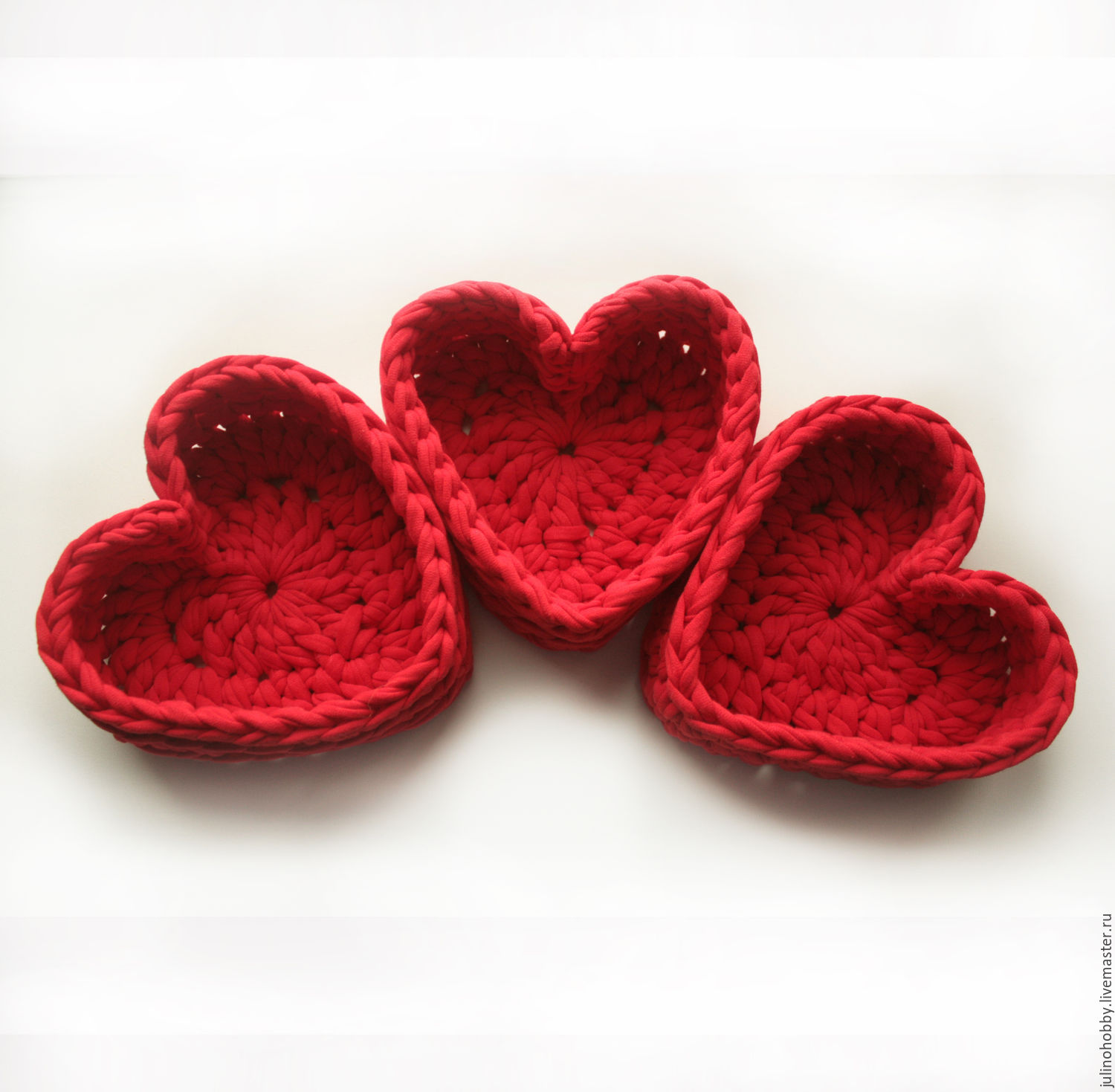 Knitted basket 'Heart', Basket, Moscow, Фото №1