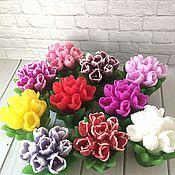 Косметика ручной работы. Ярмарка Мастеров - ручная работа сувенирное мыло Букет тюльпанов. Handmade.