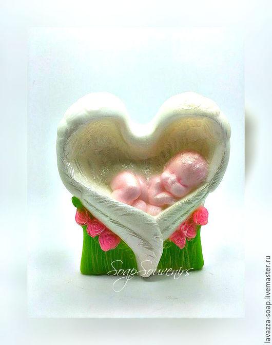Мыло ручной работы. Ярмарка Мастеров - ручная работа. Купить Мыло ангелочек. Handmade. Комбинированный, 8 марта, подарок девушке