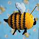 Игрушки животные, ручной работы. Пчелка Жужа. Светлана SMilосhka. Ярмарка Мастеров. Сувенир, маленькая, вязаная пчелка, веселый сувенир