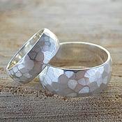 Свадебный салон ручной работы. Ярмарка Мастеров - ручная работа Граненые обручальные кольца из серебра под заказ. Handmade.