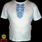 Русский стиль handmade. Livemaster - original item T-shirt with embroidery