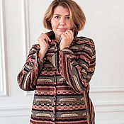 Одежда handmade. Livemaster - original item Jacket in brown tones made of Italian cotton with lining. Handmade.