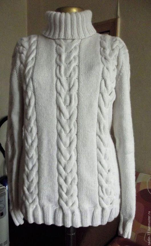 Кофты и свитера ручной работы. Ярмарка Мастеров - ручная работа. Купить женский свитер с косами. Handmade. Белый, косы