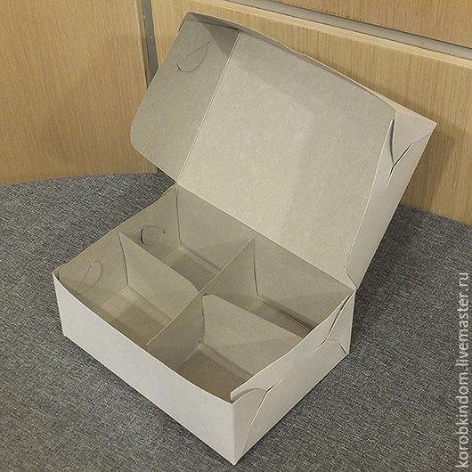 Упаковка ручной работы. Ярмарка Мастеров - ручная работа. Купить Коробочка 15х11х6 см белая с разделителем. Handmade. Коробочка