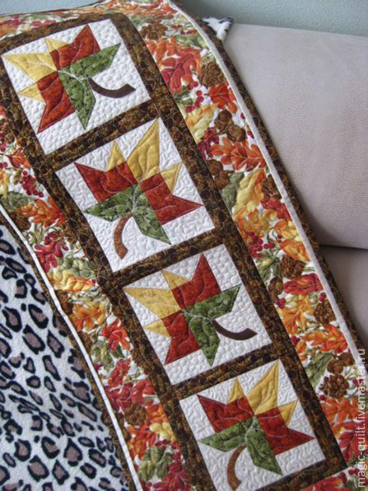 """Текстиль, ковры ручной работы. Ярмарка Мастеров - ручная работа. Купить Салфетка """"Листопад"""". Handmade. Комбинированный, лист, желтый"""
