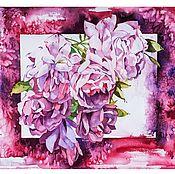 Картины и панно ручной работы. Ярмарка Мастеров - ручная работа Пионовидная роза.. Handmade.