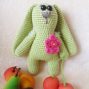 Куклы и игрушки handmade. Livemaster - original item Bunny Olive.Knitted toy.. Handmade.