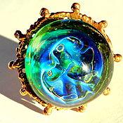 Украшения handmade. Livemaster - original item Ring Emerald green with blue iridescence. Handmade.