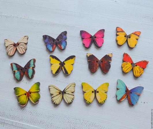 Шитье ручной работы. Ярмарка Мастеров - ручная работа. Купить Пуговицы П208-к бабочки. Handmade. Декоративные пуговицы, пуговицы для скрапа