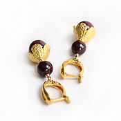 Украшения handmade. Livemaster - original item Earrings Burgundy. Handmade.