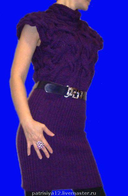 Платья ручной работы. Ярмарка Мастеров - ручная работа. Купить платье-туника косами (ручная работа) + шапка. Handmade.