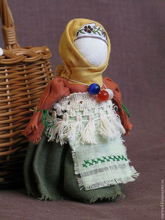 Народные куклы ручной работы. Ярмарка Мастеров - ручная работа. Купить Русская куколка Лялька. Handmade. Тёмно-зелёный