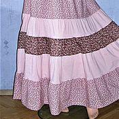 Одежда ручной работы. Ярмарка Мастеров - ручная работа Юбка многоярусная из хлопка. Handmade.