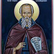 Картины и панно handmade. Livemaster - original item Saint Sava The Consecrated.Name icon. Handmade.