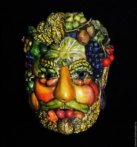 """Карнавальные костюмы ручной работы. Ярмарка Мастеров - ручная работа. Купить Маска """"Арчимбольдо"""". Handmade. Комбинированный, маскарадная маска"""