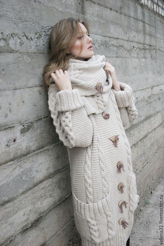 """Верхняя одежда ручной работы. Ярмарка Мастеров - ручная работа. Купить Пальто """"Алена"""". Handmade. Бежевый, пальто демисезонное"""