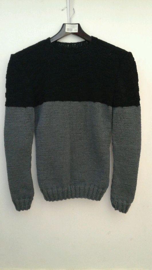 """Кофты и свитера ручной работы. Ярмарка Мастеров - ручная работа. Купить Мужской пуловер """"Гранит"""". Handmade. Пуловер вязаный"""