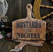 Для дома и интерьера ручной работы. Ярмарка Мастеров - ручная работа «Мостарда» Разделочная доска /массив сосны/. Handmade.