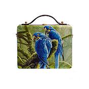 Сумки и аксессуары handmade. Livemaster - original item Women`s tote bag with Parrots made of wood with painted. Handmade.