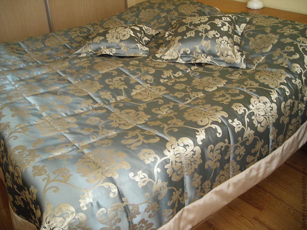Как и из чего сшить покрывало на кровать 549