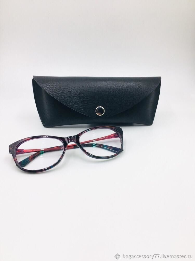 Eyeglass case made of genuine leather, Eyeglass case, Moscow,  Фото №1