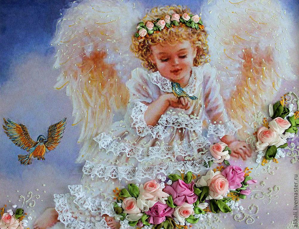 Поздравить с днем ангела в открытках, журавля