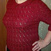 Одежда handmade. Livemaster - original item Jacket knitted openwork Ear. Handmade.