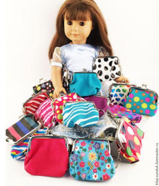 Куклы и игрушки ручной работы. Ярмарка Мастеров - ручная работа. Купить Сумочки для кукол с фермуаром из экокожи в ассортименте. Handmade. Комбинированный
