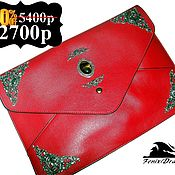 Сумки и аксессуары handmade. Livemaster - original item Leather bag for tablet Steampunk Victorian red tiger eye. Handmade.