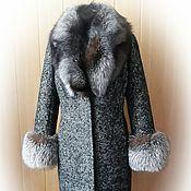 Одежда ручной работы. Ярмарка Мастеров - ручная работа Зимнее пальто с  мехом чернобурки. Handmade.