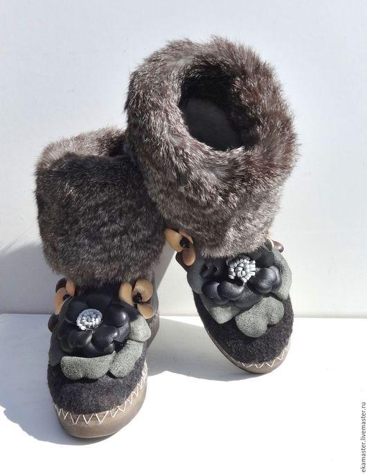 """Обувь ручной работы. Ярмарка Мастеров - ручная работа. Купить Валенки """"Мягкие лапки"""". Handmade. Валенки, ботинки валяные, сапоги"""
